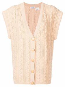 Courrèges Pre-Owned 1980's buttoned loose vest - Neutrals
