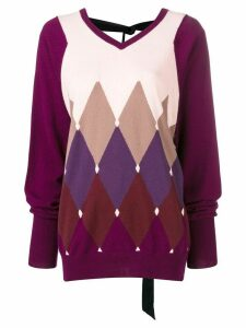 Ballantyne diamond knit sweater - Pink