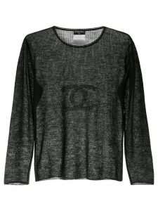 Chanel Pre-Owned 2002 Chanel CC long sleeve top - Black