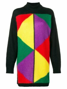 JC de Castelbajac Pre-Owned 1980's block colour jumper - Black