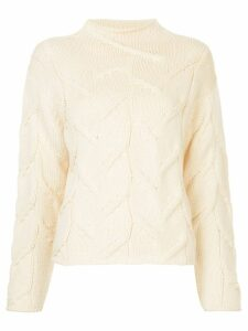 Chanel Pre-Owned fisherman knit jumper - Neutrals