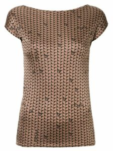 Fendi Pre-Owned geometric logo print top - Brown