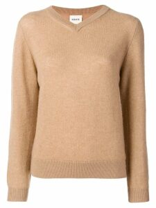 Khaite cashmere V-neck jumper - Brown