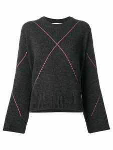 Giada Benincasa large argyle jumper - Grey