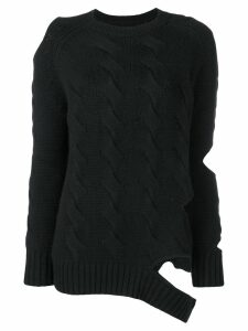 Zoe Jordan cut-out detail jumper - Black