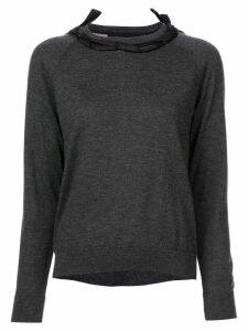Simone Rocha ribbon detail sweater - Grey