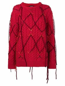 Calvin Klein 205W39nyc fringed knitted sweater - Red
