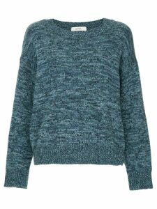 Goen.J chunky round neck sweater - Blue