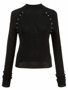 Alice+Olivia slit detail sweater - Black