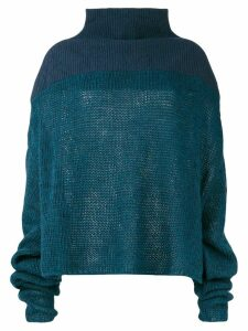 Unravel Project drop shoulder sweater - Blue