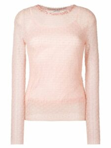 Ermanno Scervino beaded neck jumper - Pink