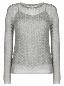 Ermanno Scervino beaded neck jumper - Grey