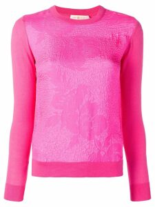 Tory Burch floral cloqué front jumper - Pink