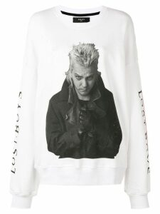Amiri oversized sleeve sweatshirt - White