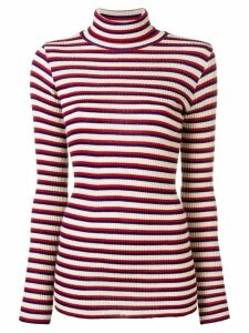 Forte Forte striped turtleneck sweater - NEUTRALS