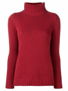 Aragona cashmere turtleneck sweater - Red