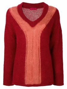 The Gigi Carlita two-tone sweater - Red