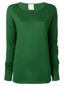Barrie fringe detail sweater - Green