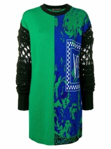 Versace mixed print jumper - Green