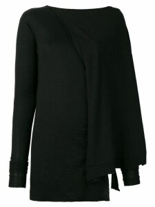 Rick Owens slim-fitted asymmetric sweater - Black