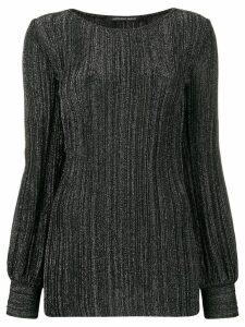 Antonino Valenti glitter ribbed top - Black