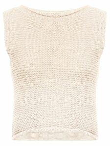 Voz knitted crop top - NEUTRALS