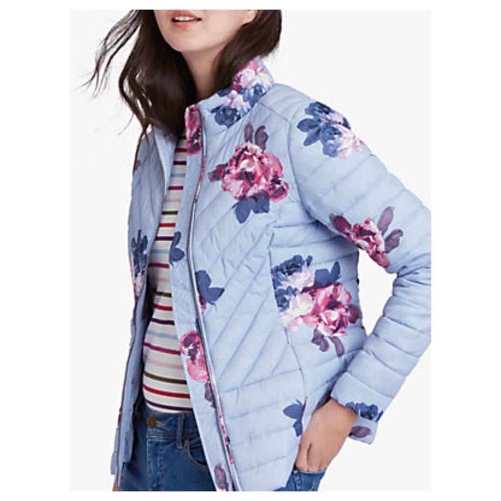 Joules Elodie Floral Print Quilted Jacket