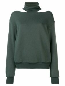 Unravel Project cut-out sweatshirt - Green