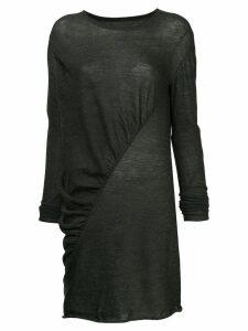 Uma Wang asymmetric longline top - Grey