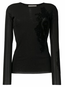 D.Exterior lace detail top - Black