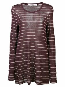 T By Alexander Wang striped longline jersey top - Red