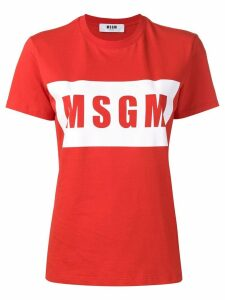 MSGM logo print T-shirt - Red