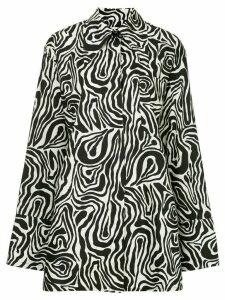 Marni zebra print long shirt - Black