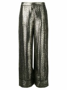 Layeur printed loose trousers - Black