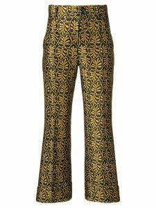 La Doublej jacquard trousers - Yellow