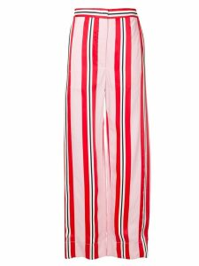 Cédric Charlier high rise palazzo trousers - Red