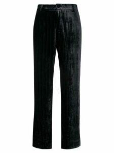 F.R.S For Restless Sleepers velvet pinstripe trousers - Blue