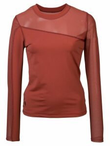Cushnie crew neck sweater - Terracotta