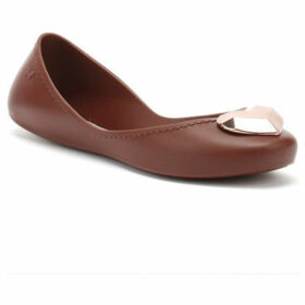Zaxy  Womens Plum Burgundy Start Metallic Heart Ballerina Flats  women's Shoes (Pumps / Ballerinas) in Red