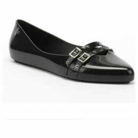 Zaxy  Womens Black Chic Buckle Ballerina Flats  women's Shoes (Pumps / Ballerinas) in Black