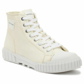Calvin Klein Jeans  Womens Off White Nylon Briony Trainers  women's Shoes (High-top Trainers) in White