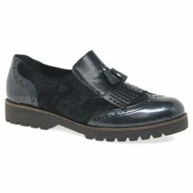 Remonte Dorndorf  Fringe Womens Slip On Wing Tip Tassel Loafer  women's Casual Shoes in Blue