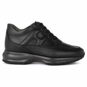 Hogan  Interactive black leather sneaker  women's Shoes (Trainers) in Black
