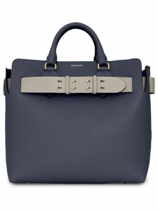 Burberry The Medium Leather Belt Bag - Blue