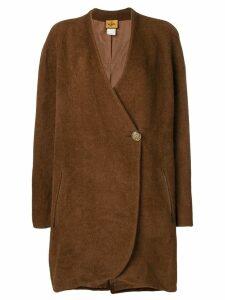 Fendi Pre-Owned single button coat - Brown