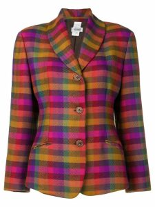 Missoni Pre-Owned single breasted check blazer - PURPLE