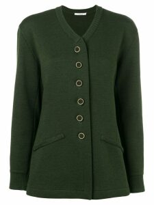 Yves Saint Laurent Pre-Owned knitted buttoned cardigan - Green