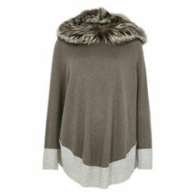 Dom Goor Fur-trimmed Cashmere Poncho