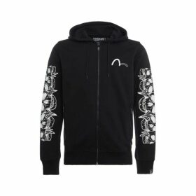 Evisu Five-hannya Skull Printed Zip-up Hoodie