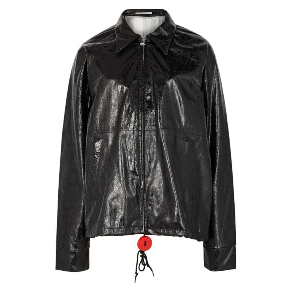 WESTLEY AUSTIN Black Cracked Leather Jacket